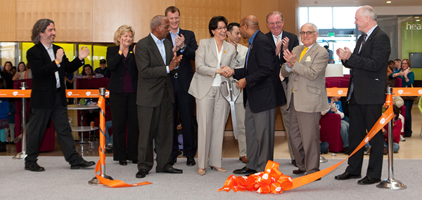 GSK's President Deirdre Connelly led the ribbon cutting